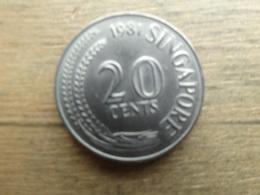 Singapour  20  Cents  1981  Km  4 - Singapur