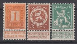 BELGIË - OBP - 1912 - Nr 108/10 - MNH** - 1912 Pellens