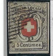 Suisse, N° 7 Oblitéré, Timbre De Neuchâtel TB Signé - 1843-1852 Timbres Cantonaux Et  Fédéraux