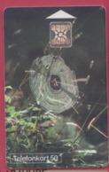 SUEDE--Telefonkort 50--Toile D'araignée--Splindel I Sitt Nat---chip SC4 - Suède