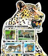 Botswana - 2017 - Leopard In Botswana - Mint Souvenir Sheet - Botswana (1966-...)