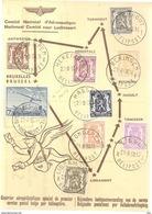 BELG.1950 EERSTE POSTDIENST PER HELICOPTER - Airmail