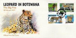 Botswana - 2017 - Leopard In Botswana - FDC (first Day Cover) - Botswana (1966-...)