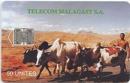 Madagascar - Telecom Malagasy - Zebus Cows - 50Units, SC7, Used - Madagaskar
