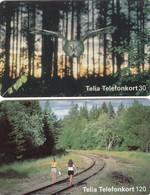 11950 - N°: 2 SCHEDE TELEFONICHE - SVEZIA - USATE - Sweden