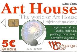 Montenegro - Telecom - Art House - 06.2003, 320Units, 50.000ex, Used - Montenegro