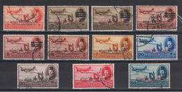 EGITTO:  1952  P.A. SOPRASTAMPATI  -  11  VAL. US. -  YV/TELL. 43//59 - Aéreo