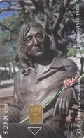 11954 - SCHEDA TELEFONICA - CUBA - ESTATUA DE JOHN WISTON LENNON - USATA - Cuba