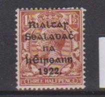 Irlande / N 3  / 1 1/2 P Brun / NEUF Avec Trace De Charnière - 1922-37 Irish Free State