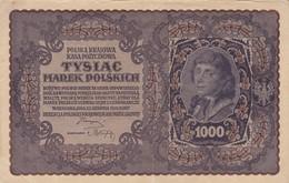 BILLETE DE POLONIA DE 1000 MAREK  3ª SERIE P DEL AÑO 1919 (BANK NOTE) - Polonia