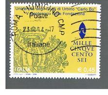 ITALIA REPUBBLICA  -   2006    UNIVERSITA' DI URBINO        -   USATO  ° - 6. 1946-.. Repubblica
