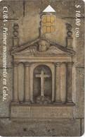 11956- SCHEDA TELEFONICA - CUBA - PRIMER MONUMENTO EN CUBA - USATA - Cuba