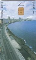11957- SCHEDA TELEFONICA - CUBA - MALECON HABANERO - USATA - Cuba