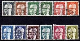 Germany 1970-1973, #1029-1038, Pres. Gustav Heinemann, Used, NH - [7] Federal Republic