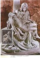 Roma La Pieta De Michelanglo Nella Basilica, 4.6. 1964, L50,(2scans) - Cartes-Maximum (CM)