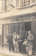 27-BOURGTHEROULDE- CARTE-PHOTO , COIFFEUR ET BARBE A CONTRÔLER - Bourgtheroulde