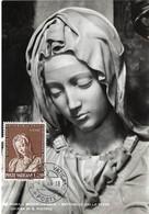 Roma-Michelangelo-Bettaglio Della Pieta, 4.6. 1964, L250 (2scans) - Cartes-Maximum (CM)