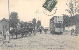93-ROSNY-SOUS-BOIS- TERMINUS DE TRAMWAY ET PONT DU CHEMIN DE FER - Rosny Sous Bois