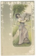Cpa Illustrateur, Femme, Période Art Nouveau, Série Musik   ( S. 2643 ) - Illustrators & Photographers