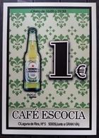 POSTAL CERVEZA - BEER HEINEKEN - CAFÉ ESCOCIA. - Alcoholes