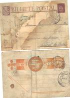 2 Entiers Carte Postale.....trés Abimés ! - Entiers Postaux
