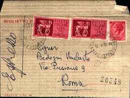 87691) Espresso- Biglietto Postale Da 40l.siracusana+2x75l. Espresso Da Trento A Roma  Il 12/9/1966 - 6. 1946-.. Repubblica
