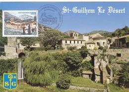 Carte-Maximum FRANCE N° Yvert 3310 (SAINT GUILHEM LE DESERT) Obl Sp Ill 1er Jour (Ed Méridionales 649) - 2000-09