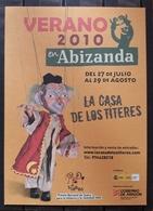 POSTAL VERANO 2010 - LA CASA DE LOS TÍTERES. PROGRAMACIÓN - Publicidad