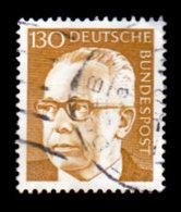 Germany 1970-1973, #1040, 130pf.,  Pres. Gustav Heinemann, Used, NH - [7] Federal Republic