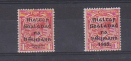 Irlande / N 2 A Et B  / 1 P Rouge / NEUF Avec Trace De Charnière - Neufs