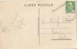 CACHET BATEAU FOUCAULD + BORDEAUX DOCKS GIRONDE 1948 - Postmark Collection (Covers)