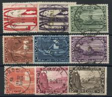 Belgique (1928) N 258 A 266 (o) - 1922-1927 Houyoux