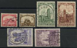 Belgique (1928) N 267 A 272 (o) - 1922-1927 Houyoux