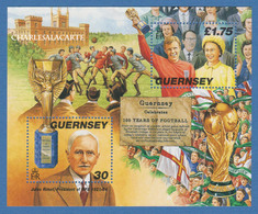 GUERNSEY/GUERNESEY 1998 FOOTBALL ANNIVERSARY  M.S. U.M. S.G. MS 780  N.S.C. - Guernesey