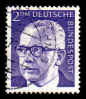 Germany 1970-1973, #1044, 2 Marks.,  Pres. Gustav Heinemann, Used, NH - [7] Federal Republic