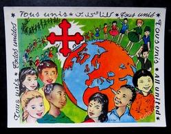 COEURS VAILLANTS - AMES VAILLANTES 1 ère Rencontre Internationale 1962 Illustration SOLEILLANT - Scoutisme