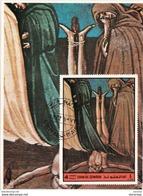 Umm Al Qiwain 1972 Mi. 898 Dante Alighieri Divina Commedia Inferno Miniatura Illustrazione Fg. 5 - Scrittori