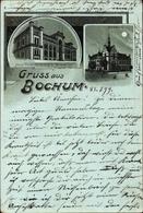 Clair De Lune Lithographie Bochum Im Ruhrgebiet, Hauptportal Des Vereins Für Bergbau, Ständehaus - Deutschland