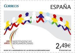 ESPAÑA 2010 - BICENTENARIO DE LA INDEPENDENCIA DE LAS REPUBLICAS IBEROAMERICANAS - Edifil Nº 4555 - 1931-Oggi: 2. Rep. - ... Juan Carlos I