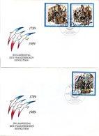 """DDR 2 Schmuck-FDC Mi 3258/60 """"200. Jahrestag Der Französischen Revolution"""", ESSt BERLIN 4.7.1989 - Révolution Française"""