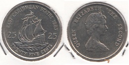 East Caribbean States 25 Cents 1987 Km#14 - Used - East Caribbean States