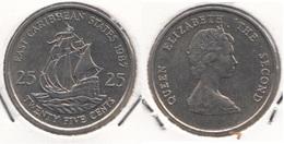 East Caribbean States 25 Cents 1987 Km#14 - Used - Caraibi Orientali (Stati Dei)