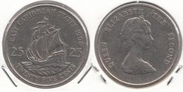 East Caribbean States 25 Cents 1996 Km#14 - Used - Caraibi Orientali (Stati Dei)