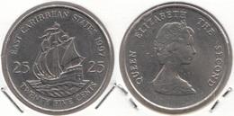East Caribbean States 25 Cents 1997 Km#14 - Used - Caraibi Orientali (Stati Dei)
