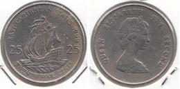 East Caribbean States 25 Cents 1999 Km#14 - Used - Caraibi Orientali (Stati Dei)