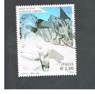 ITALIA REPUBBLICA  -   2006  MARMO DI CARRARA           -   USATO  ° - 6. 1946-.. Repubblica