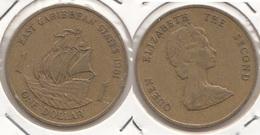 East Caribbean States 1$ Dollar 1981 Km#15 - Used - Caraibi Orientali (Stati Dei)