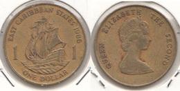 East Caribbean States 1$ Dollar 1986 Km#15 - Used - East Caribbean States