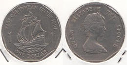 East Caribbean States 1$ Dollar 1991 Km#20 - Used - Caraibi Orientali (Stati Dei)