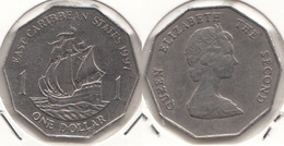East Caribbean States 1$ Dollar 1997 Km#20 - Used - Caraibi Orientali (Stati Dei)